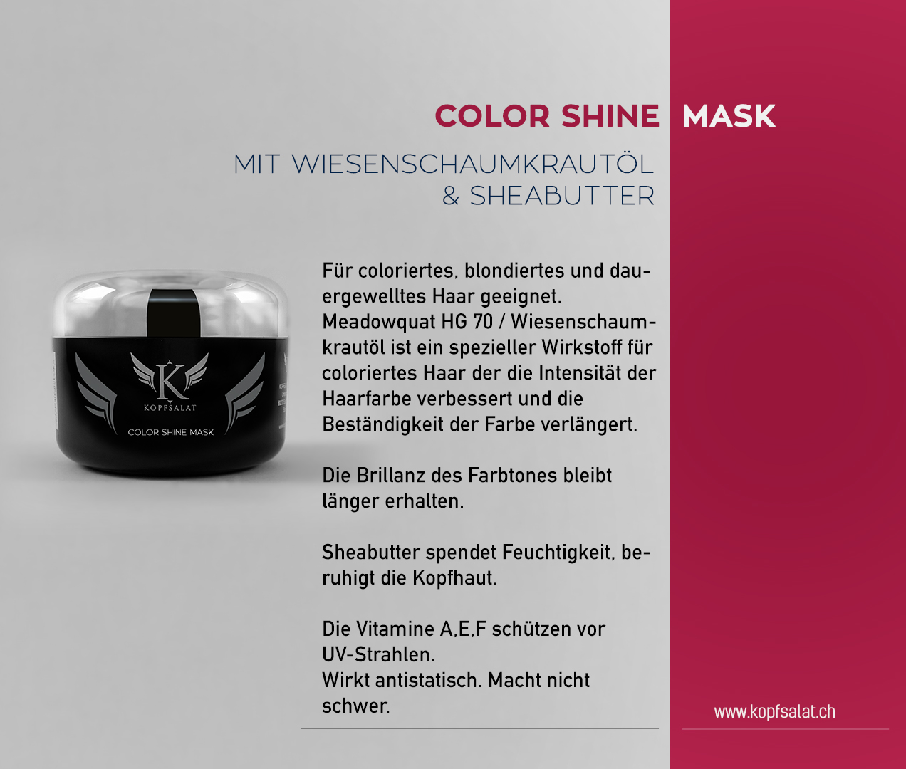 2 color shine mask